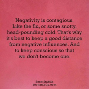 185 Negativity is contagious - not