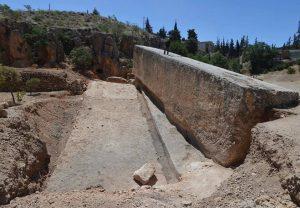 says 199 - Megalithic stone in Baalbek, Lebanon