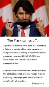 Covid mask off
